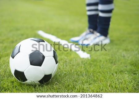 Free kick spray soccer  - stock photo