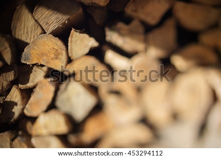 free lensing photo of stacked wood
