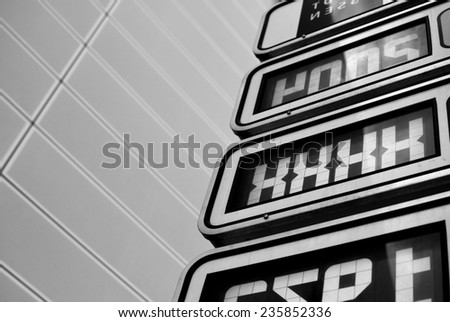 Free parking places - stock photo