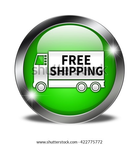 Free shipping button isolated