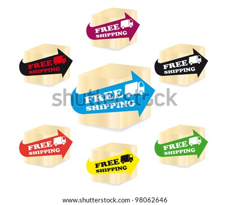 Free shipping icons - stock photo