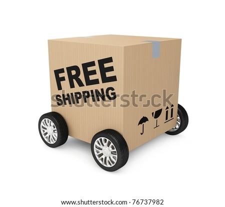 Free shipping. Image contain clipping path - stock photo