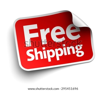 free shipping label - stock photo