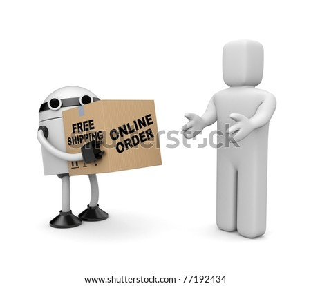 Free shipping metaphor. Image contain clipping path - stock photo