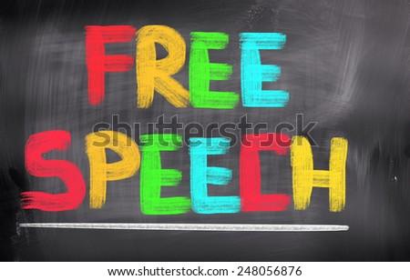 Free Speech Concept - stock photo