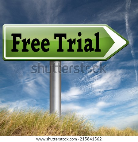 free trial product sample.  Promotion advertising icon or label Try or test it now.