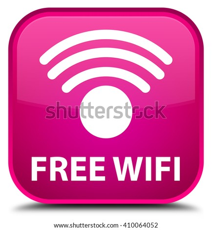 Free wifi pink square button