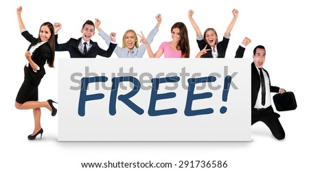 Free word writing on banner - stock photo