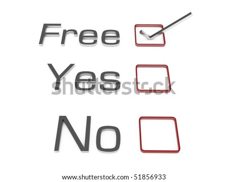 Free yes no sign