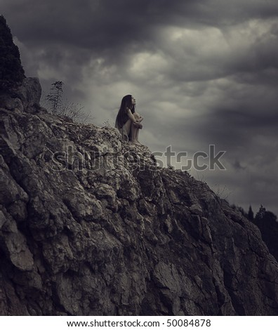 freedom and loneliness - stock photo