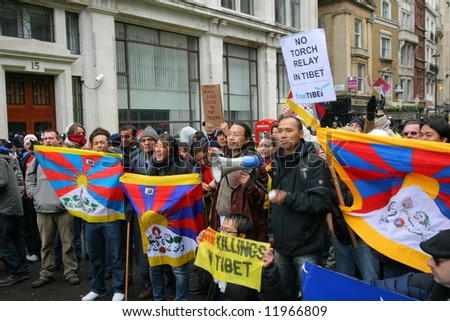 Freedom for Tibet protests London