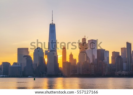 Freedom Tower Sunrise from New Jersey