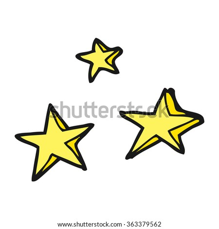 freehand drawn cartoon decorative stars doodle - stock photo