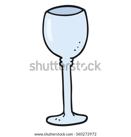 freehand drawn cartoon wine glass - stock photo