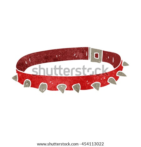 freehand retro cartoon dog collar - stock photo