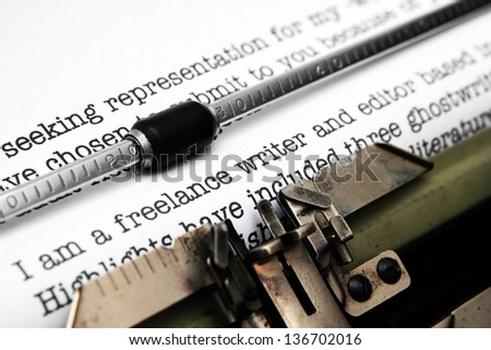 Freelance writer letter - stock photo