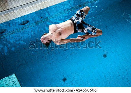 Freestyle Jump - stock photo