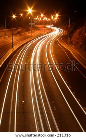 Freeway at night...