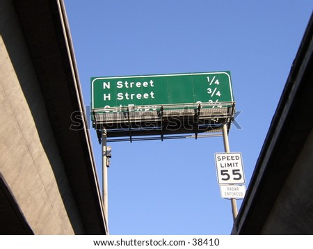 Freeway Sign from Below