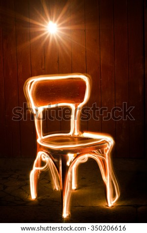 Freeze light chair - stock photo
