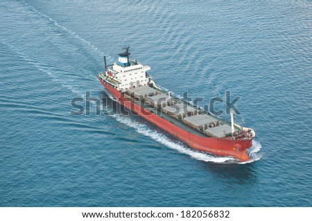 Freight transport ship - stock photo
