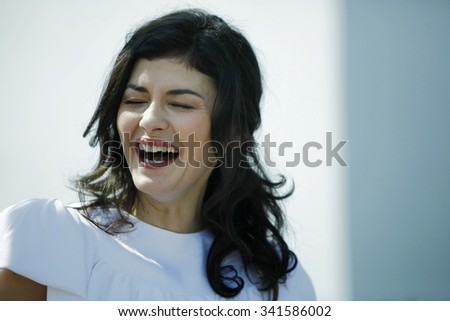 French actress Audrey Tautou poses during the photocall of 'Therese Desqueyroux' presented out of competition at the 65th Cannes film festival on May 27, 2012 in Cannes.  - stock photo
