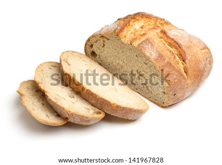 French artisan bread loaf