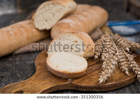 French baguette - stock photo