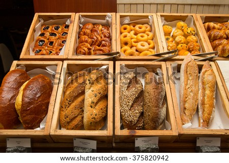 French Baguette at the buffet line.