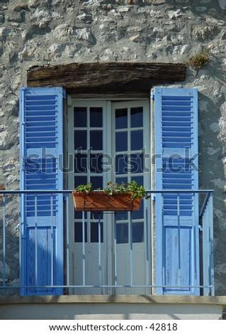 french balcony - stock photo