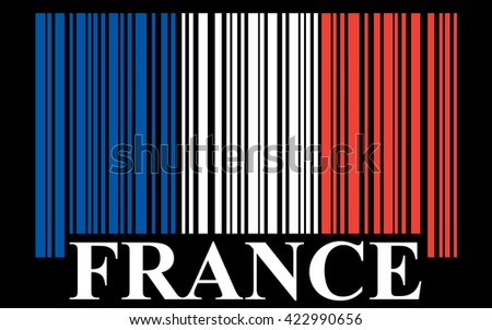 French barcode flag - stock photo