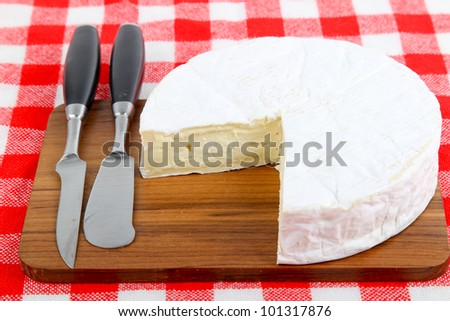 French Brie Cheese - stock photo