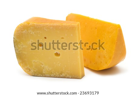 french cheese on white background