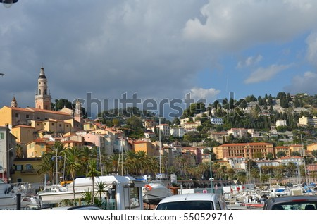 french city of Menton view