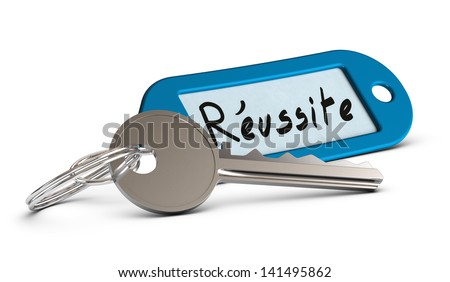 French concept of personal motivation. Key of success - stock photo