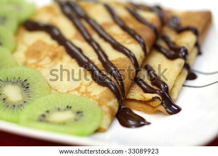 French crepes - stock photo