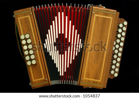 french diatonic accordion - stock photo