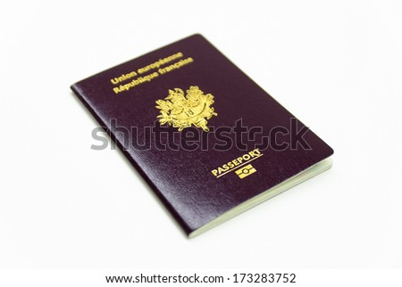 French European Passport - stock photo