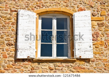 French farm - window, architectural detail