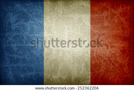 french flag - stock photo