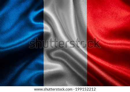 French flag fabric with waves