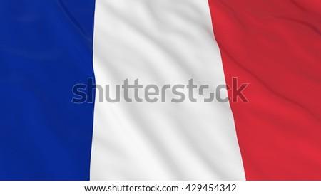 French Flag HD Background - Flag of France 3D Illustration - stock photo