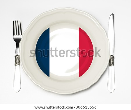 French flag plate - stock photo