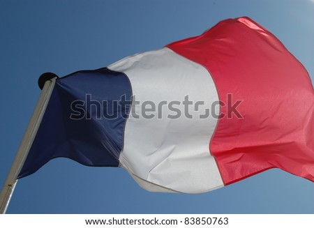 French Flag Waving - stock photo