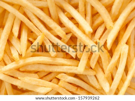 french fries background, closeup shot - stock photo