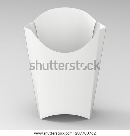French Fries Box Mockup White Paper Stock Illustration 207700762 ...