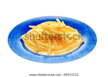 French fries in a dish - stock photo