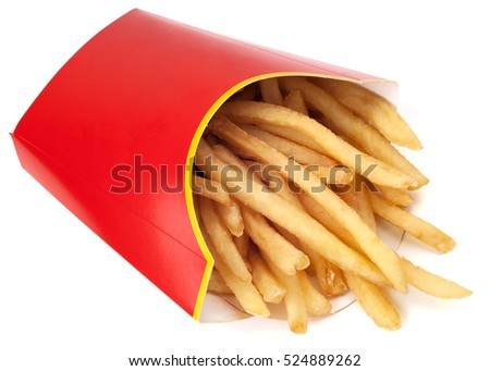 French fries isolated on white.