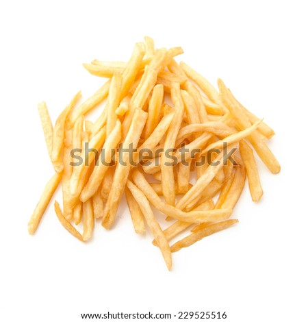 French fries or Potato chips  - stock photo
