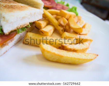 french fries side of sandwich
